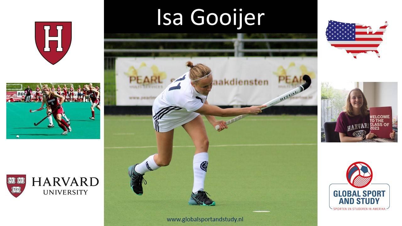 "Isa Gooijer becomes a Harvard ""Crimson"""