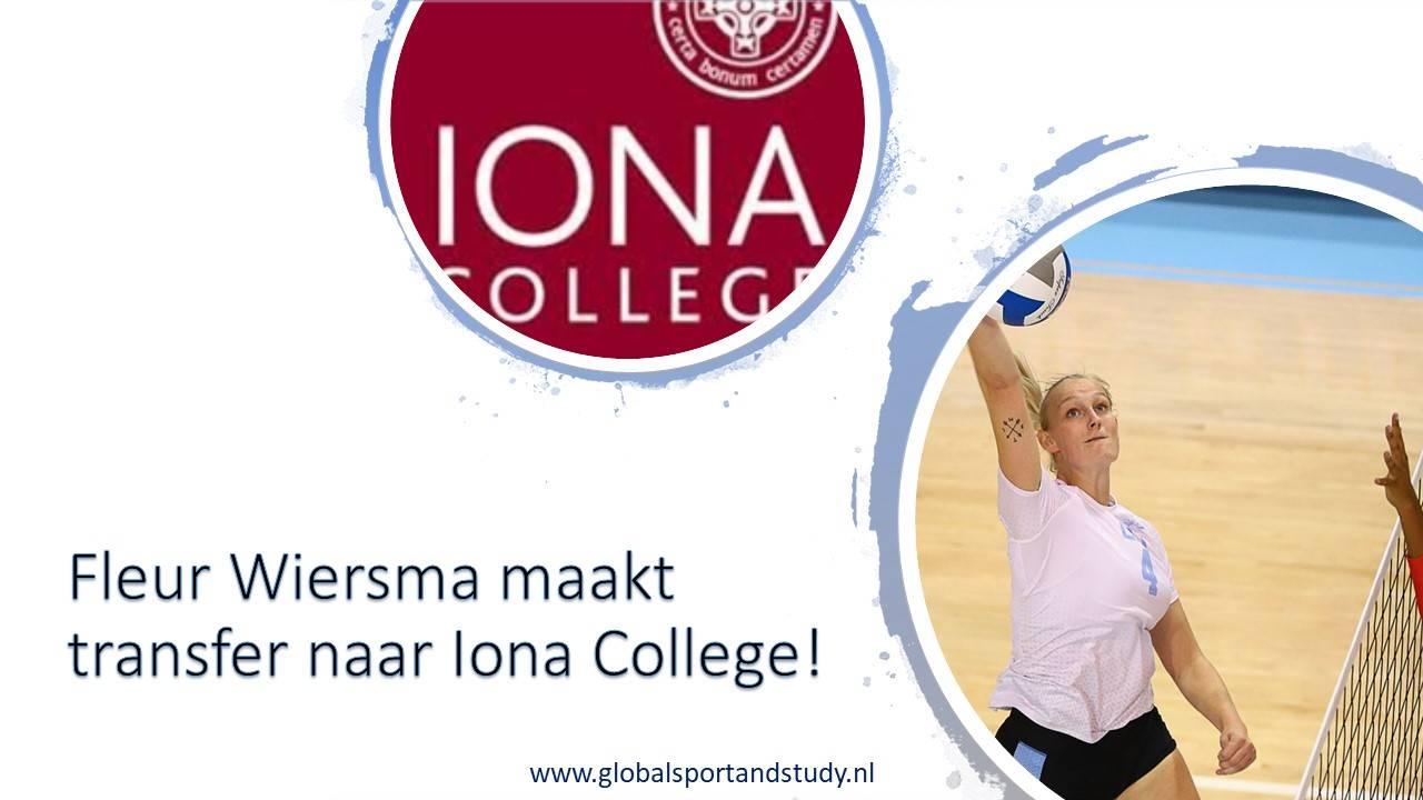 Fleur Wiersma maakt transfer naar Iona College, New York