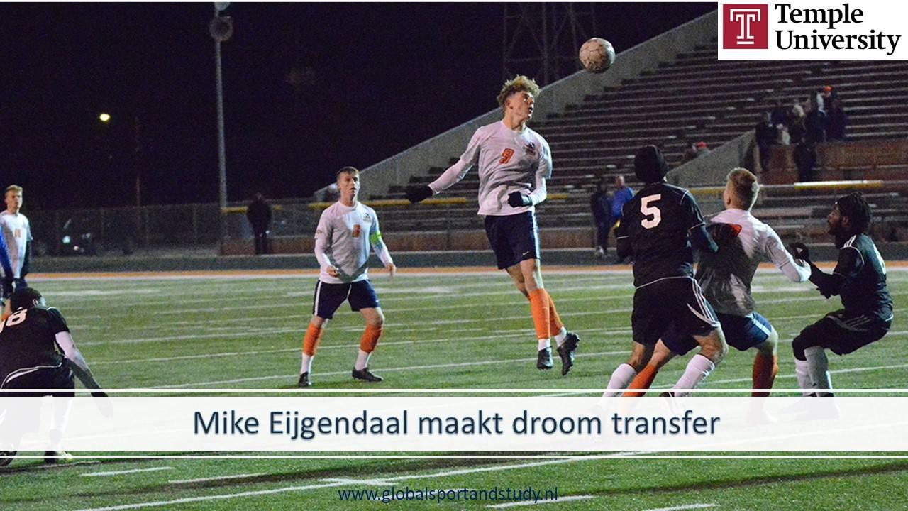 Mike Eijgendaal maakt droom transfer naar Temple University!