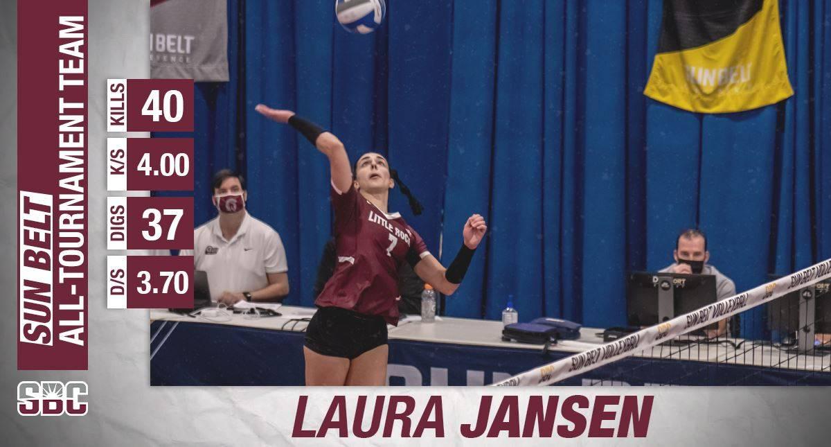 Laura Jansen benoemd tot lid van het Sun Belt All-Tournament Team