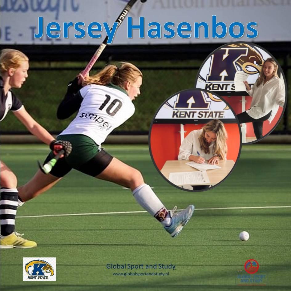 Jersey Hasenbos maakt overstap naar Kent State University